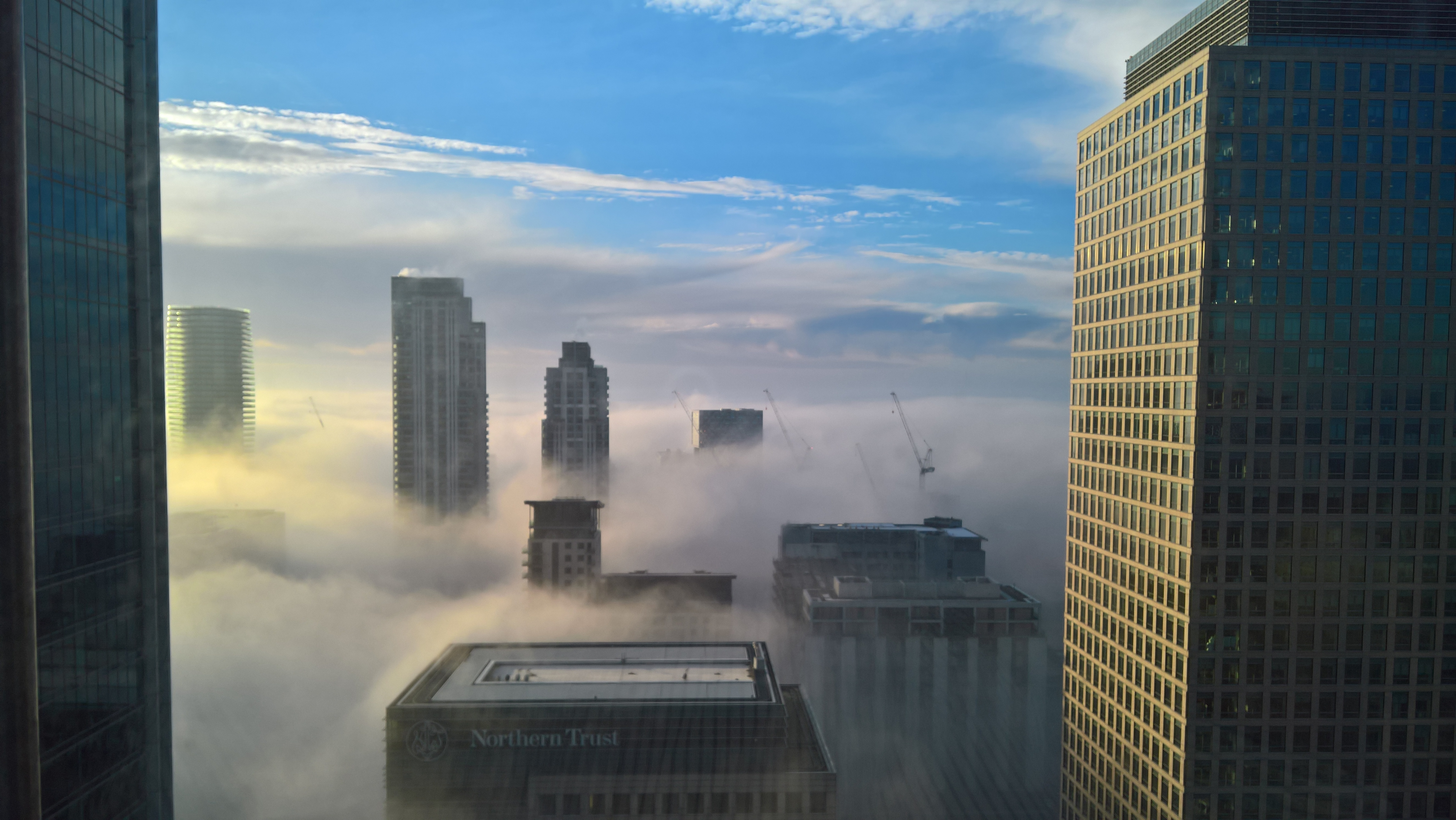 View from Canary Wharf towards the City of London